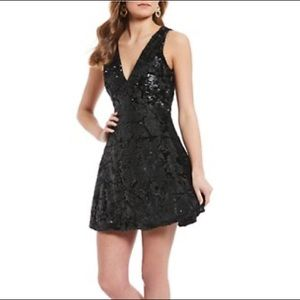 GB Black Sequin Cocktail dress